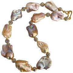 Michael Kneebone Pastel Baroque Pearl Granulated Bead Necklace
