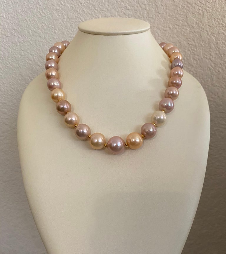Women's Michael Kneebone Pastel Colored Pearl Necklace For Sale