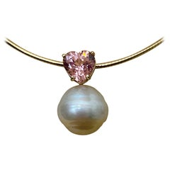 Michael Kneebone Pink Tourmaline Paspaley South Seas Pearl Pendant