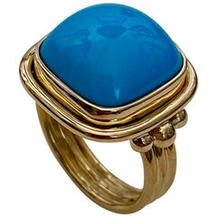 Michael Kneebone Sleeping Beauty Turquoise Archaic Style Ring