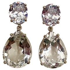 Michael Kneebone White Sapphire White Topaz Dangle Earrings