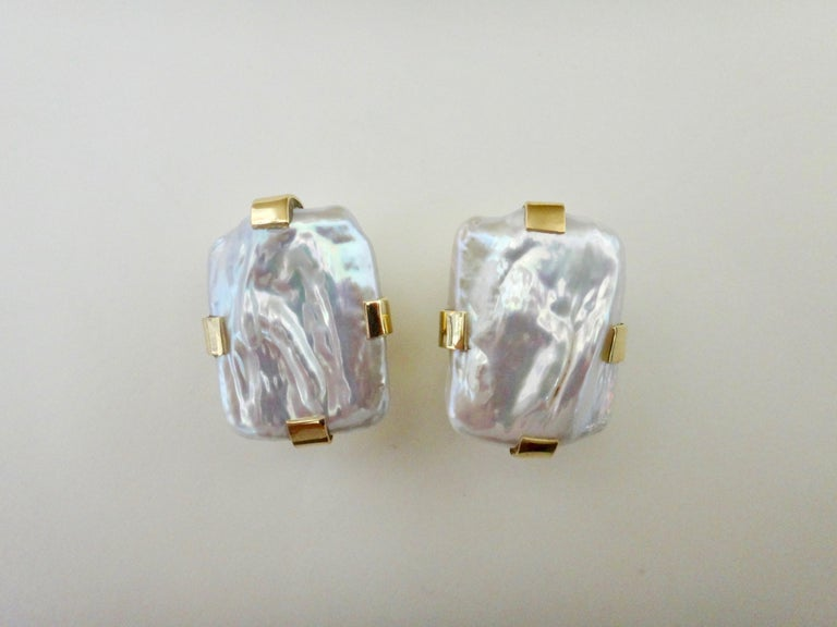 Michael Kneebone White Tile Pearl Earring Necklace Suite