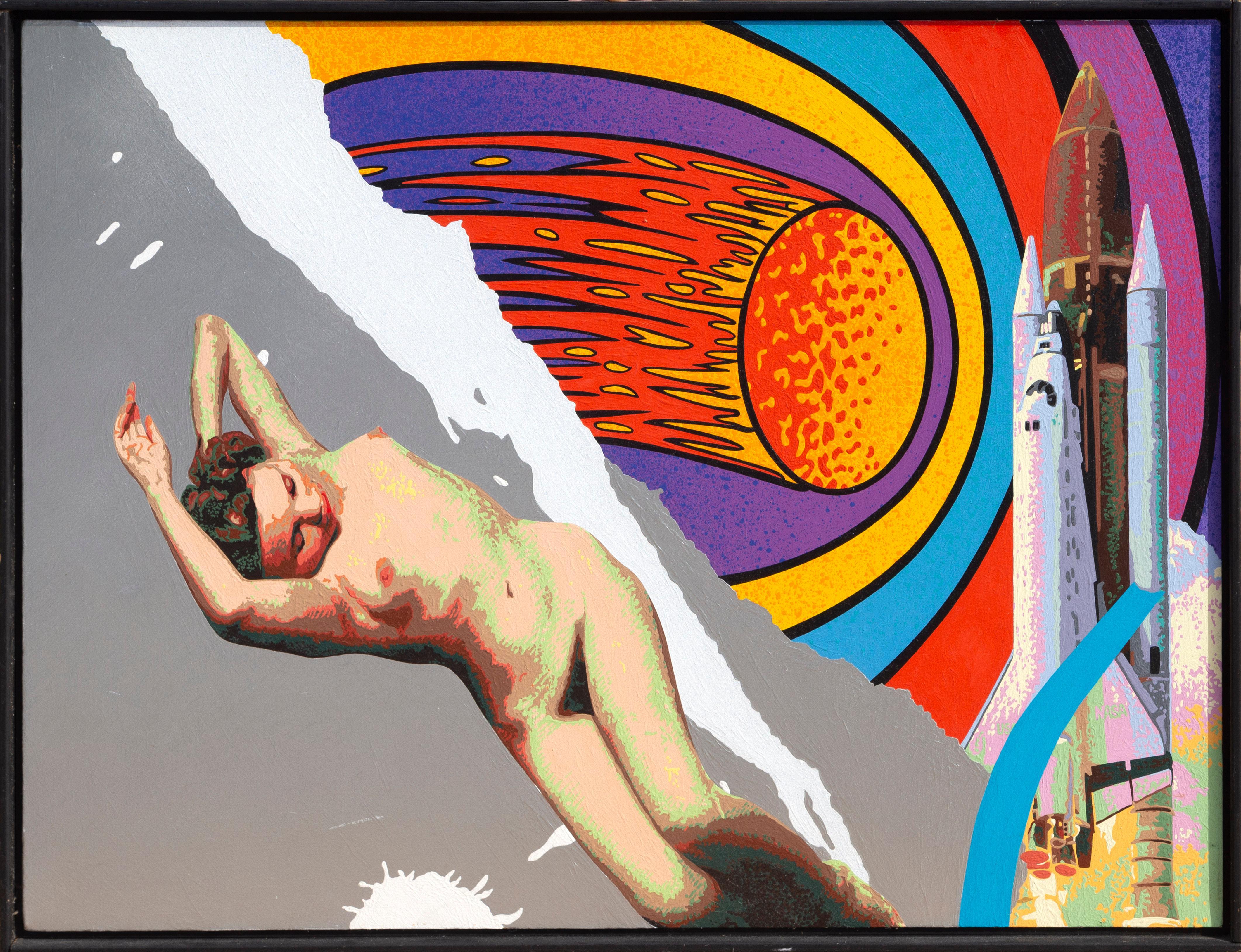 Bare Essence, Pop Art Acrylic Painting by Michael Knigin