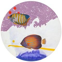 Loyal Pal, Pop Art Acrylic Painting by Michael Knigin