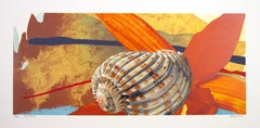 """Fair Passer,"" Pop Art Color Lithograph of Seashell signed by Michael Knigin"