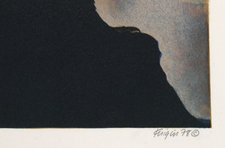 Fiery Idol - Black Still-Life Print by Michael Knigin
