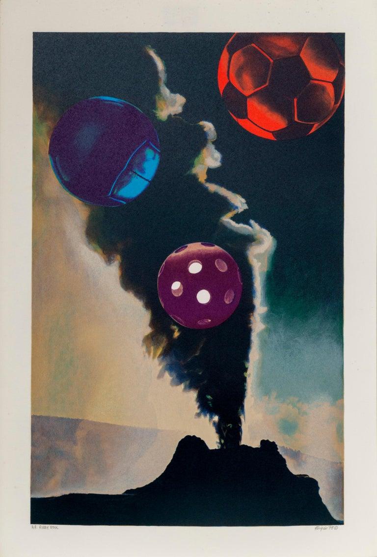 Michael Knigin Still-Life Print - Fiery Idol