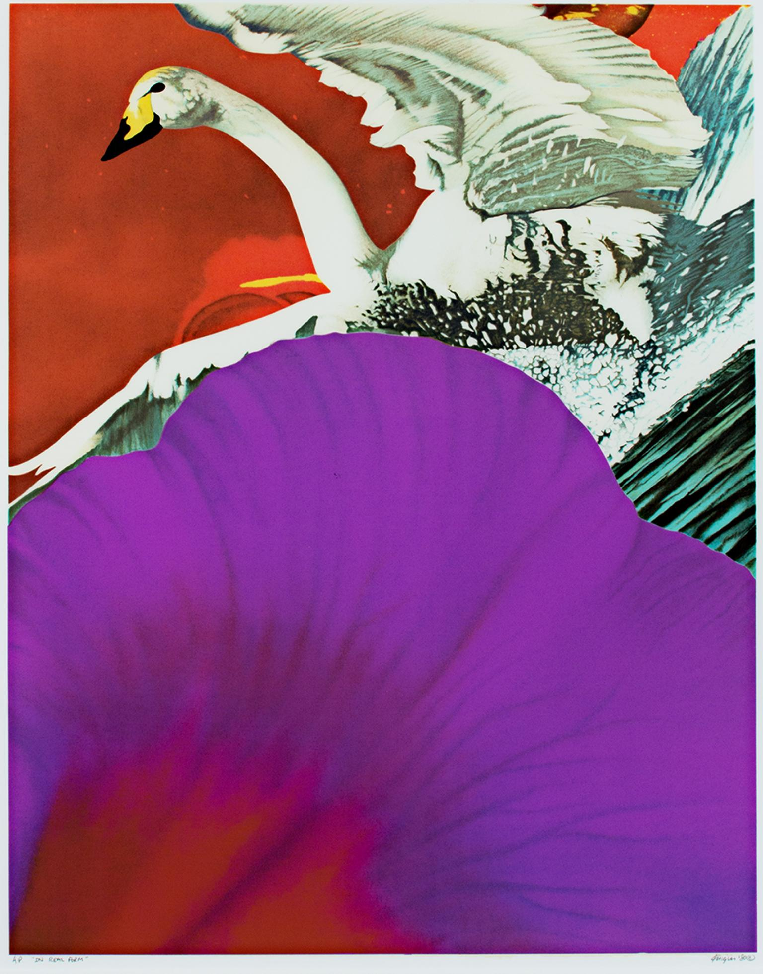"""""""In Real Form,"""" Original Pop Art Color Lithograph signed by Michael Knigin"""