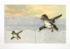 """Take the Point,"" Original Color Lithograph from ""Bird Suite"" by Michael Knigin"