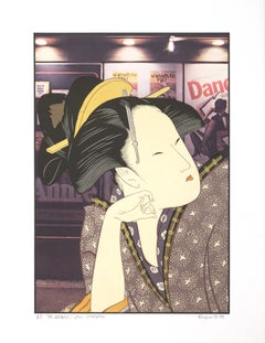 """""""The Dreamer After Utamaro,"""" Original Color Lithograph signed by Michael Knigin"""