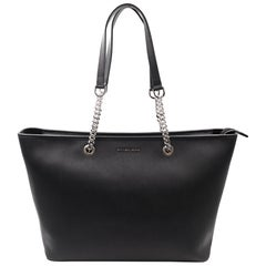 Michael Kors 30T6SJ8T2L Jet Set Travel Chain Saffiano Leather Tote Womens Bag