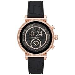 Michael Kors Access Sofie Steel Rose Gold Black Band Ladies Smartwatch MKT5069