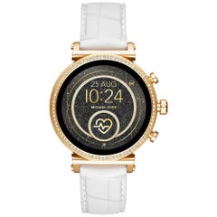 Michael Kors Access Sofie Steel White Band Ladies Touchscreen Smartwatch MKT5067