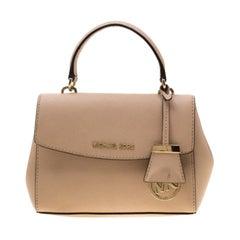 Michael Kors Beige Leather Extra Small Ava Crossbody Bag