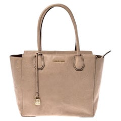 Michael Kors Beige Pebbled Leather Large Mercer Tote