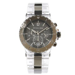 Michael Kors Bel Aire Clear Acrylic Gunmetal Dial Quartz Ladies Watch MK5500