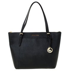 Michael Kors Black Leather Large Caira Tote