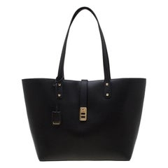 Michael Kors Black Leather Large Karson Carryall Luggage Tote