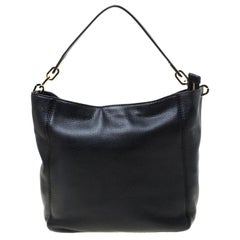 Michael Kors Black Leather Slouchy Hobo
