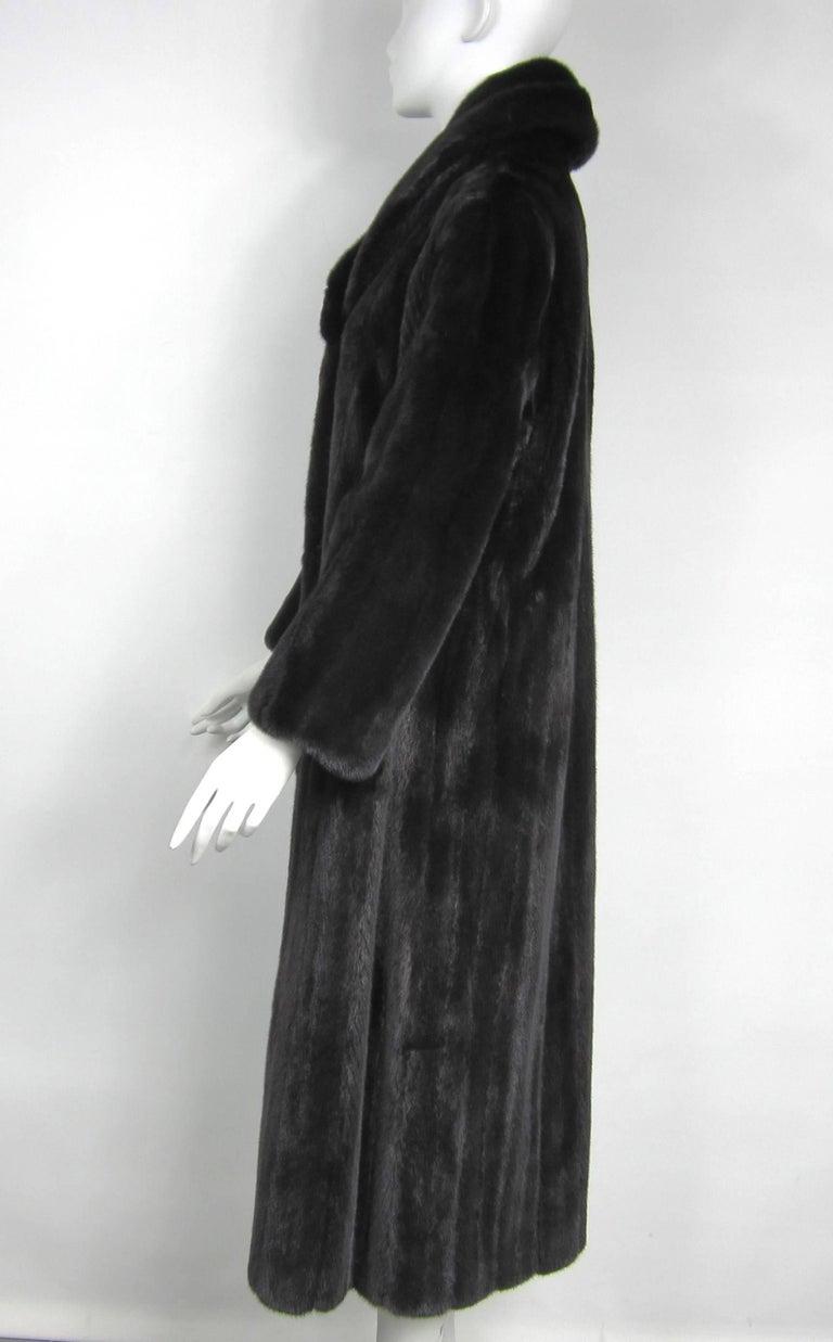 Women's or Men's Michael Kors Black Ranch Mink Fur Coat wide Collar -Large  For Sale