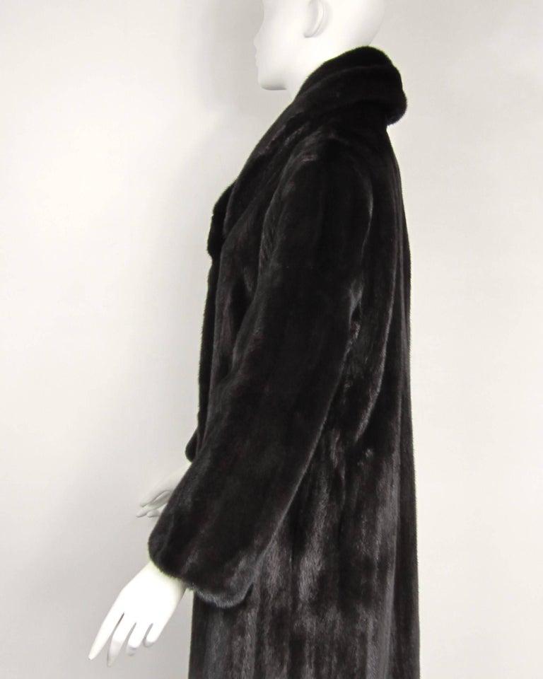 Michael Kors Black Ranch Mink Fur Coat wide Collar -Large  For Sale 1