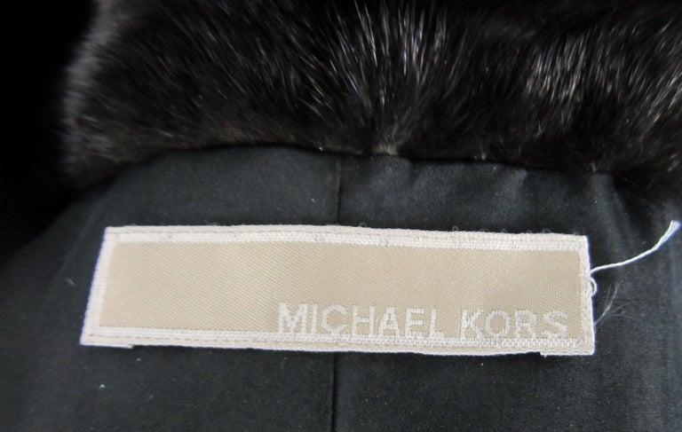 Michael Kors Black Ranch Mink Fur Coat wide Collar -Large  For Sale 4
