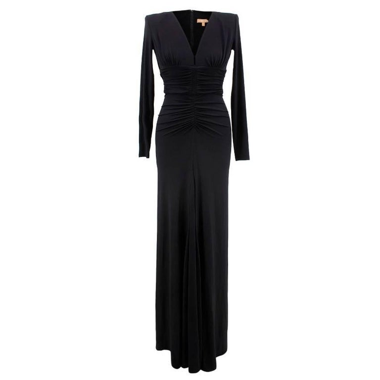 Michael Kors black v-neck gown