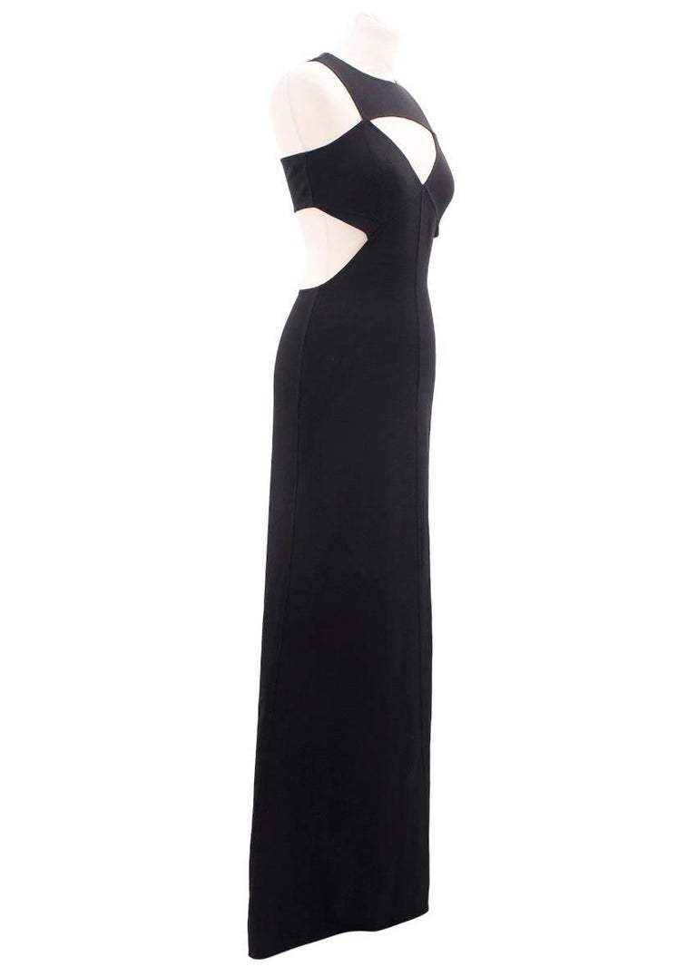 Michael Kors black wool cut-out gown For Sale at 1stdibs