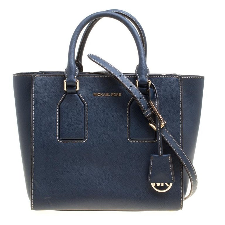 ab397a49c07a78 Michael Kors Blue Leather Top Handle Bag For Sale at 1stdibs