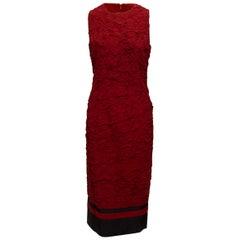 Michael Kors Burgundy Silk-Blend Textured Maxi Dress
