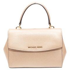 Michael Kors Champagne Leather Mini Handbag