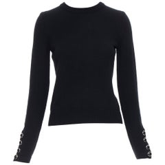 MICHAEL KORS COLLECTION 100% cashmere black long sleeve pullover sweater XS
