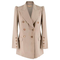 Michael Kors Collection Beige Double Breasted Blazer 2