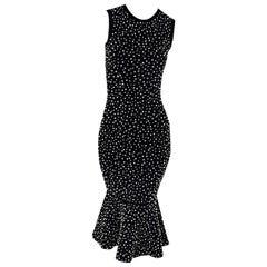 Michael Kors Collection Black Embellished Sheath Dress