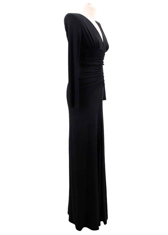Black Michael Kors Collection black open-back dress US 0 For Sale