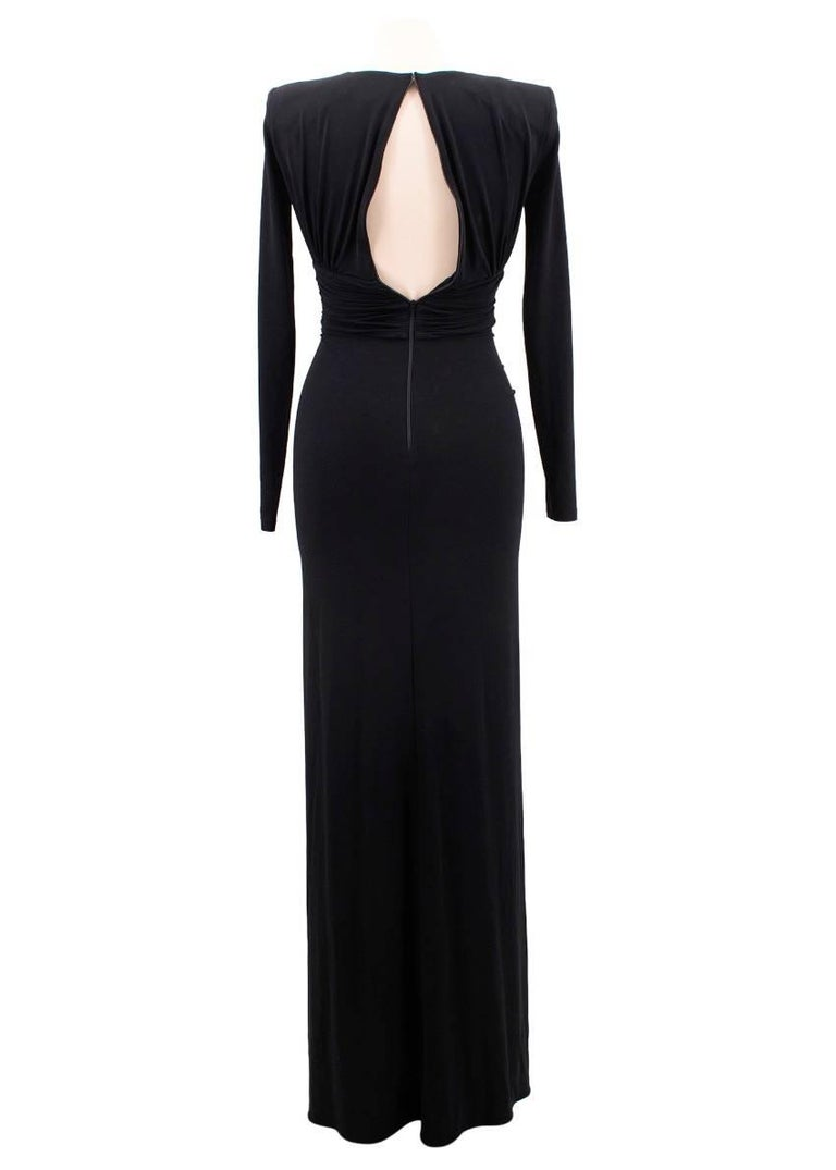 Michael Kors Collection black open-back dress US 0 In Excellent Condition For Sale In London, GB