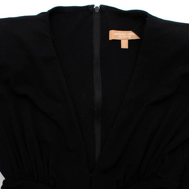 Women's Michael Kors Collection black open-back dress US 0 For Sale