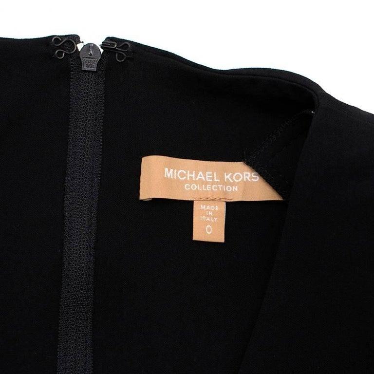 Michael Kors Collection black open-back dress US 0 For Sale 1