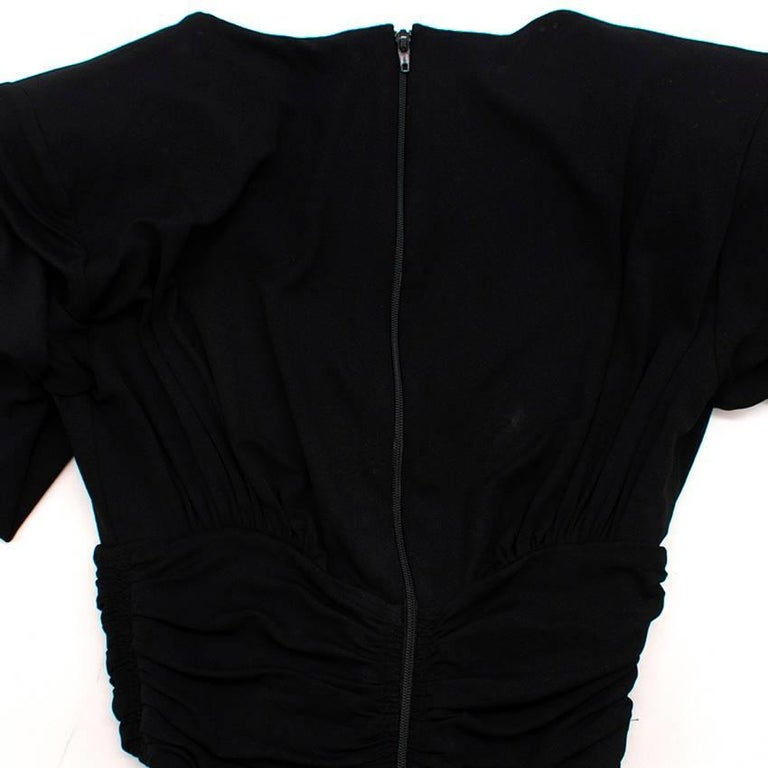 Michael Kors Collection black open-back dress US 0 For Sale 3
