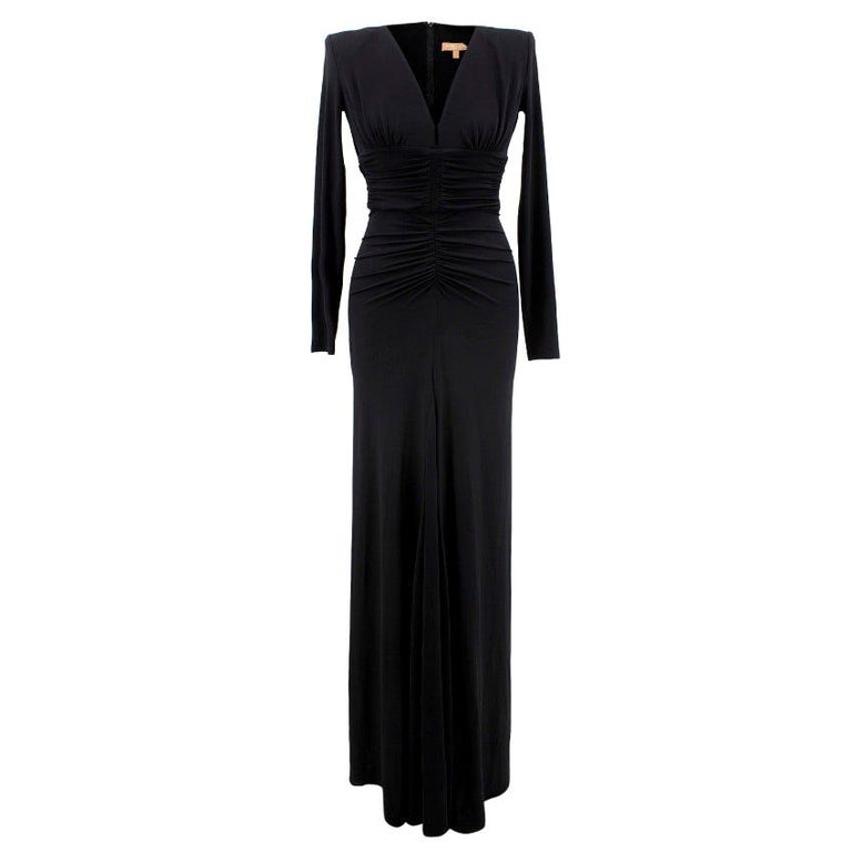 Michael Kors Collection black open-back dress US 0 For Sale