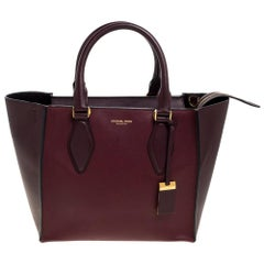 Michael Kors Collection Burgundy Leather Medium Gracie Tote