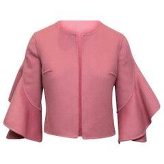Michael Kors Collection Pink Virgin Wool-Blend Jacket