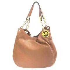 Michael Kors Fulton Brown Leather Large Shoulder Tote Ladies Bag 30H3GFTE3L-230