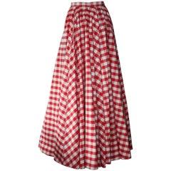 Michael Kors Gingham Runway Skirt