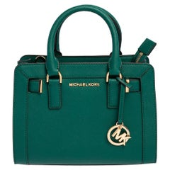 Michael Kors Green Leather Small Dillon Tote