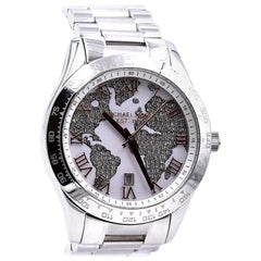 Michael Kors Layton Stainless Steel Pave Crystal Watch