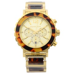 Michael Kors Lillie Tortoise Acetate Gold-Tone Steel Quartz Ladies Watch MK5790