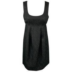 MICHAEL KORS Size 4 Black Woven Polyester Blend Empire Waist Dress