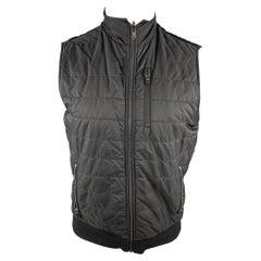 MICHAEL KORS Size S Black Quilted Nylon Zip Up Vest