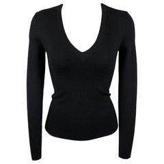 MICHAEL KORS Size XS Black Cashmere V-Neck Pullover Sweater